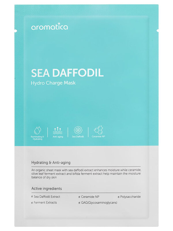 Aromatica Sea Daffodil Hydro Charge Mask i gruppen Hudvård / Ansiktsmask / Sheet mask hos Bangerhead (B025986)