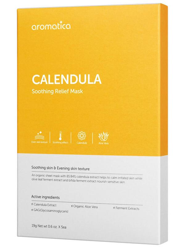 Aromatica Calendula Soothing Relief Mask i gruppen K-Beauty / Hudpleiesteg 1-10 / Steg 7 - Sheet masks hos Bangerhead.no (B025987)