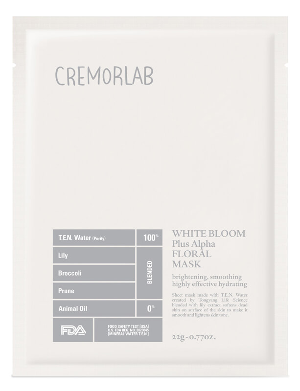 Cremorlab White Bloom Triple Bright Floral Mask ryhmässä Ihonhoito / Kasvonaamiot / Kangasnaamiot at Bangerhead.fi (B026498r)