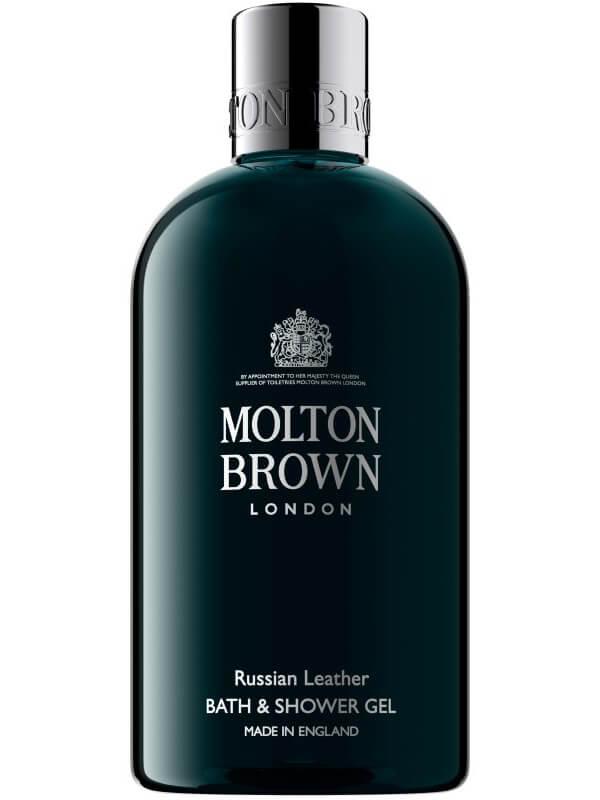 Molton Brown Russian Leather Bath & Shower Gel (300ml) ryhmässä Vartalonhoito & spa / Vartalon puhdistus / Kylpysaippuat & suihkusaippuat at Bangerhead.fi (B027052)
