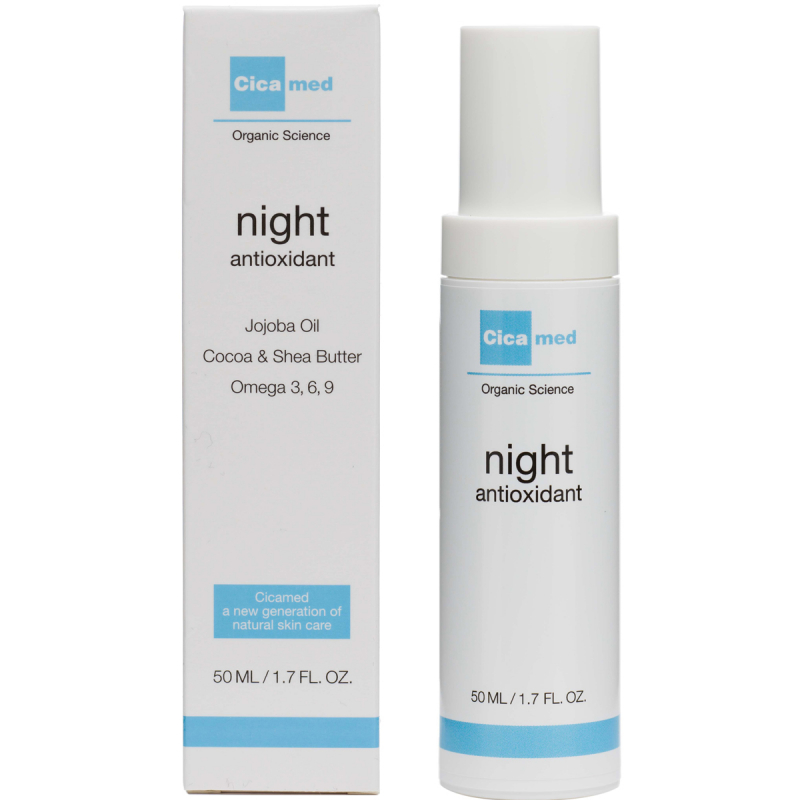 Cicamed Organic Science Night Antioxidant (50ml) i gruppen Hudvård / Ansiktsåterfuktning / Nattkräm hos Bangerhead (B027293)