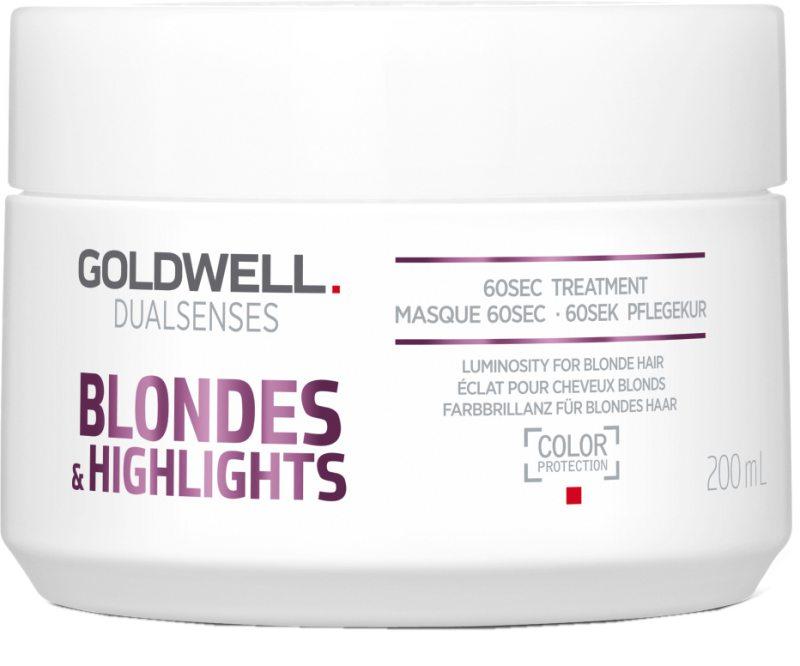 Goldwell Dualsenses Blondes & Highlights 60 Sec Treatment ryhmässä Hiustenhoito / Hiusnaamiot ja hoitotuotteet / Naamiot at Bangerhead.fi (B024883r)