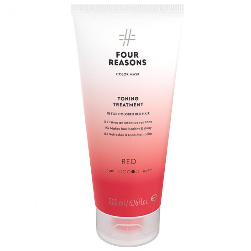 Four Reasons Color Mask Toning Treatment Red (200ml) ryhmässä Hiustenhoito / Hiusvärit / Hiusvärit & sävytteet at Bangerhead.fi (B028084)