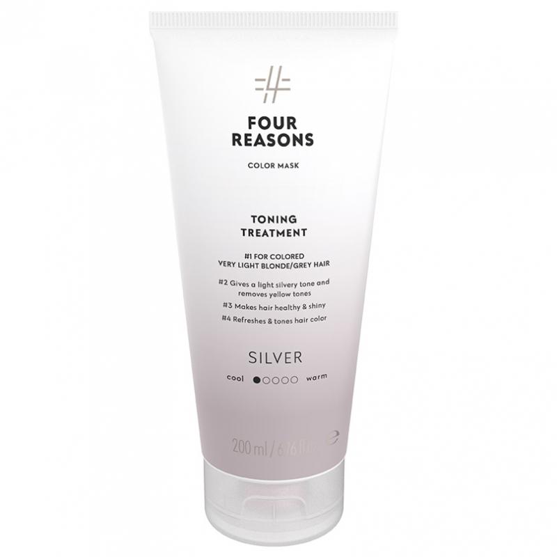 Four Reasons Color Mask Toning Treatment Silver (200ml) ryhmässä Hiustenhoito / Hiusvärit / Hiusvärit & sävytteet at Bangerhead.fi (B028085)