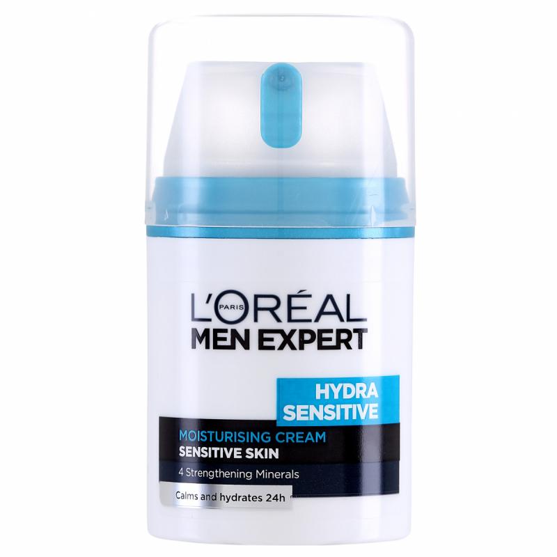 Loreal Men Expert Hydra Sensitive Moisturizer  i gruppen Man / Hudvård för män / Ansiktskräm för män hos Bangerhead (B028236)