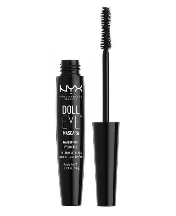 NYX Professional Makeup Doll Waterproof Mascara Black  ryhmässä Meikit / Silmät / Ripsivärit at Bangerhead.fi (B028564)