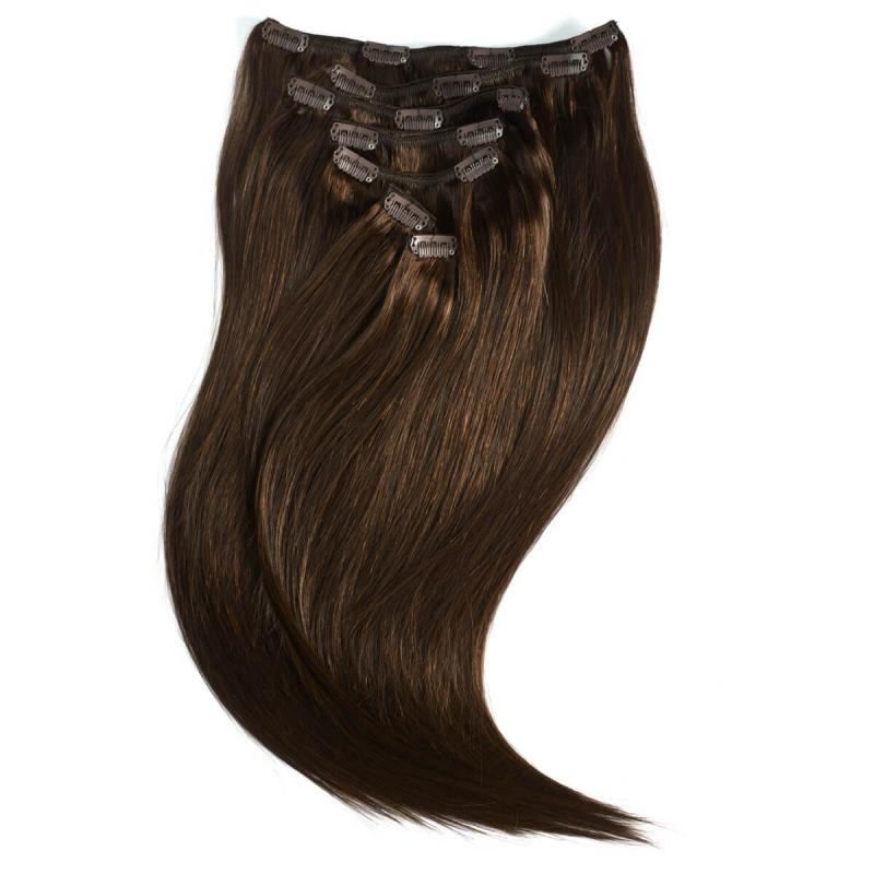 Rapunzel #2 Mørkebrun Clip On-set Hair Extensions i gruppen Hårpleie / Extensions hos Bangerhead.no (B028726)