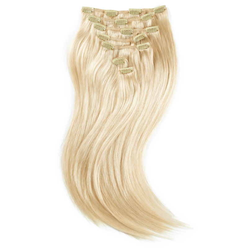 Rapunzel #60 Lys Blond Clip On-set Hair Extensions i gruppen Hårpleie / Extensions hos Bangerhead.no (B028728)