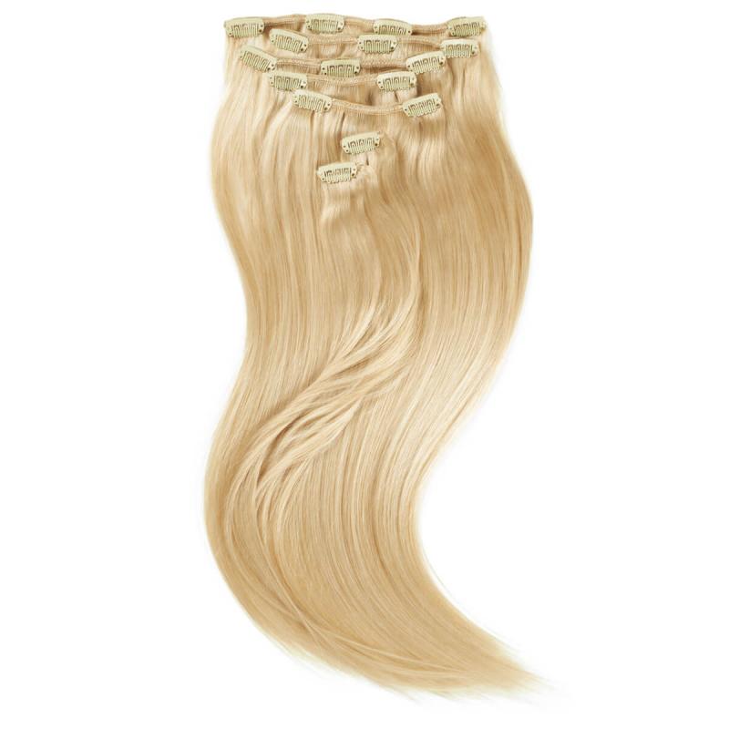 Rapunzel of Sweden 50 cm Clip-on Set Original 7 piece 613 Light Golden Blond ryhmässä Hiustenhoito / Hiustenpidennykset at Bangerhead.fi (B028729)