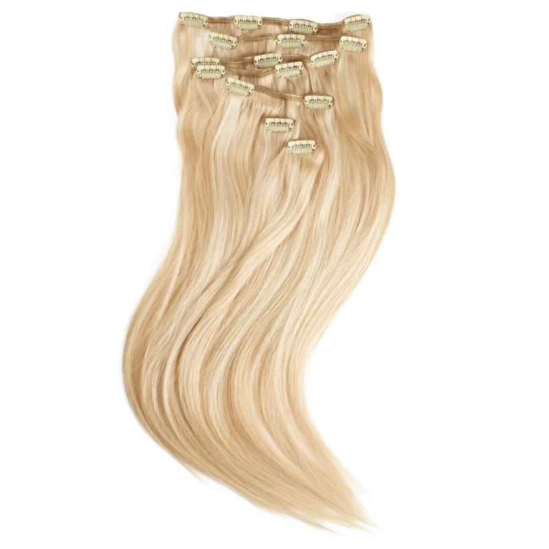 Rapunzel #P24/60 Platina Clip On-setti Hair Extensions ryhmässä Hiustenhoito / Hiustenpidennykset at Bangerhead.fi (B028732)