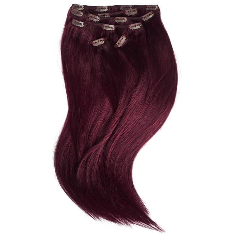 Rapunzel P99J Mahogny Clip On-set Hair Extensions i gruppen Hårvård / Hårförlängning hos Bangerhead (B028735)