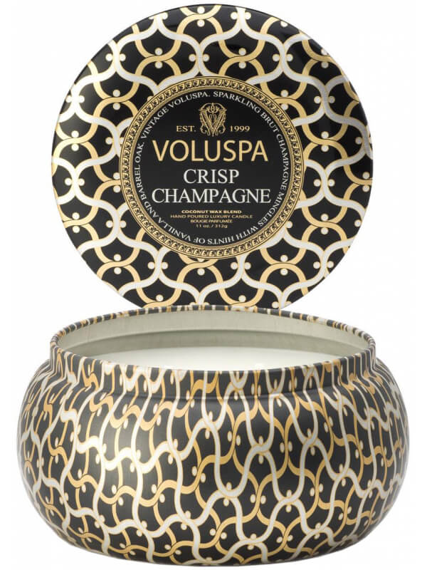 Voluspa 2 Wick Maison Metallo Candle Crisp Champagne i gruppen Parfym & doft / Doftljus & doftpinnar / Doftljus hos Bangerhead (B029092)