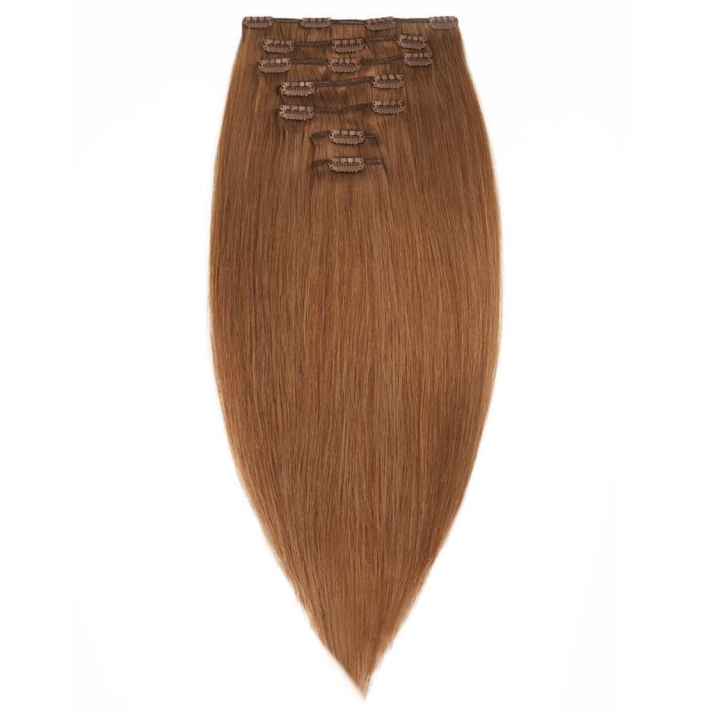 Rapunzel 6 Rödbrun Clip On-set Hair Extensions i gruppen Kampanjer / Outlet hos Bangerhead (B030133)
