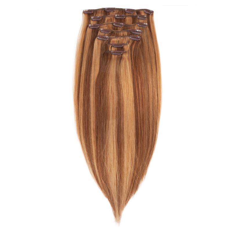 Rapunzel P6/27 Caramell Clip On-set Hair Extensions i gruppen Kampanjer / Outlet hos Bangerhead (B030139)