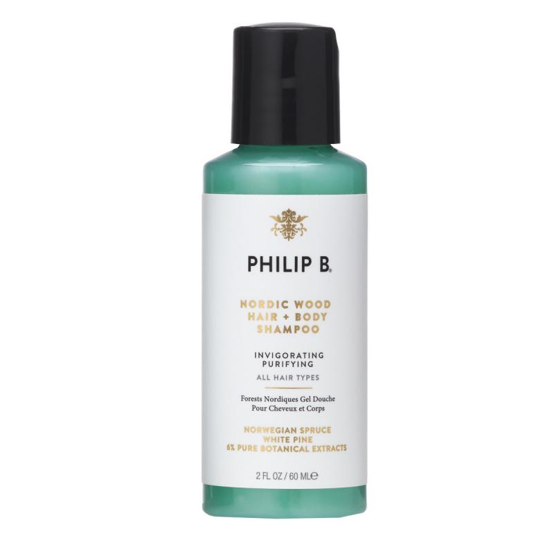 Philip B Nordic Wood Hair And Body Shampoo 60 ml i gruppen Man / Hudvård för män / Rengöring för män hos Bangerhead (B031369)