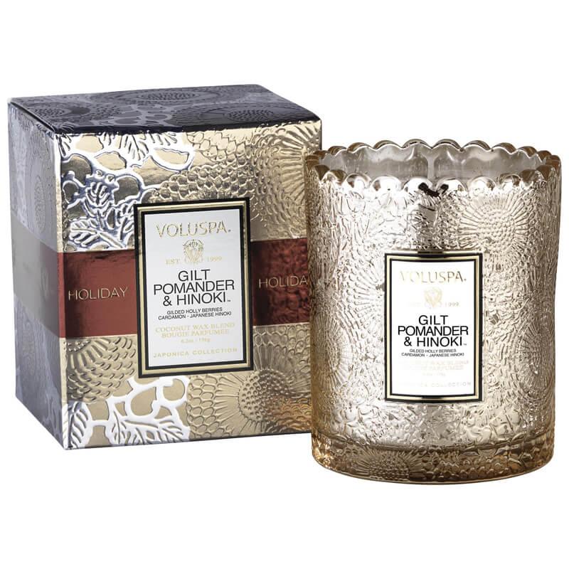 Voluspa Boxed Scalloped Candle i gruppen Parfyme / Hjem / Duftlys hos Bangerhead.no (B036706)