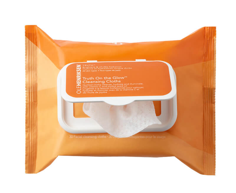 Ole Henriksen Truth On The Glow Cleansing Cloths (30st) i gruppen Hudvård / Ansiktsrengöring / Rengöringsservetter hos Bangerhead (B037084)