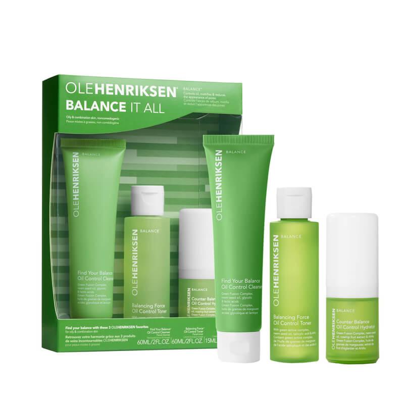 Ole Henriksen Balance It All Oil Control And Pore Refining Set ryhmässä Ihonhoito / Lahjapakkaukset & setit / Aloituspakkaukset  at Bangerhead.fi (B037101)