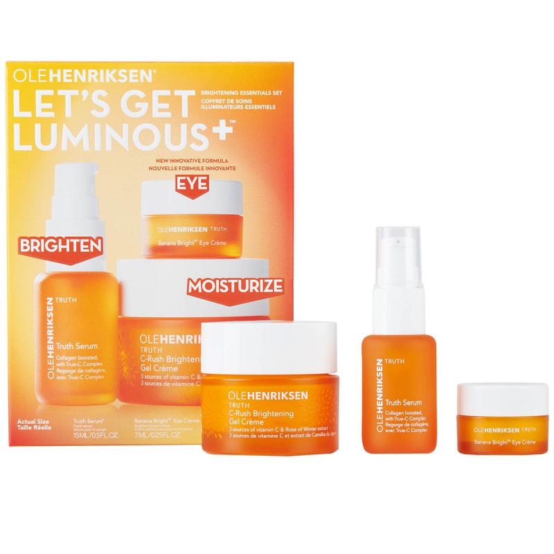 Ole Henriksen Lets Get Luminous Set ryhmässä Ihonhoito / Lahjat & ihonhoitosetit / Aloituspakkaukset  at Bangerhead.fi (B037102)