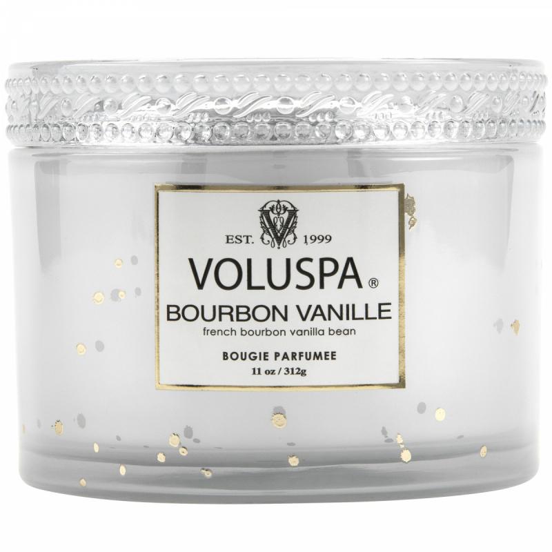 Voluspa Bourbon Vanille Boxed Corta Maison Glass Candle (45h) ryhmässä Tuoksut / Tuoksukynttilät ja tuoksutikut / Tuoksukynttilät at Bangerhead.fi (B037297)
