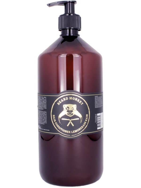 Beard Monkey Hair Conditioner Lemongrass Rain (1000ml) ryhmässä Hiustenhoito / Shampoot & hoitoaineet / Hoitoaineet at Bangerhead.fi (B037959)