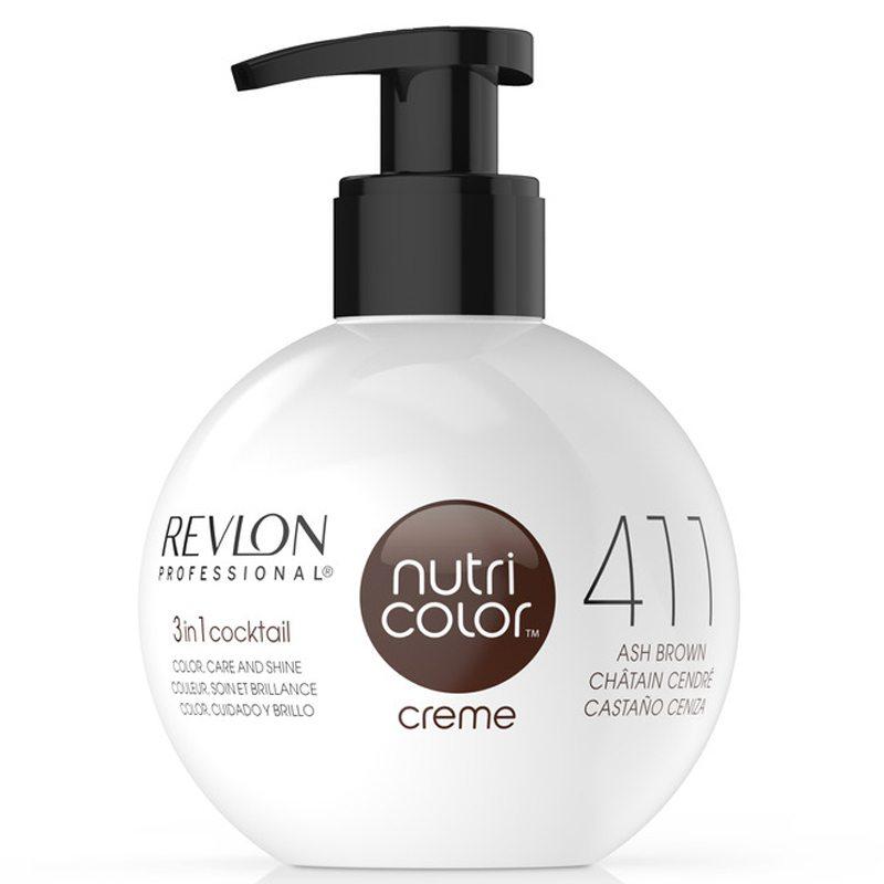 Revlon Professional Nutri Color Creme 411 Ash Brown (270ml) i gruppen Hårvård / Inpackning & treatments / Inpackning hos Bangerhead (B038661)