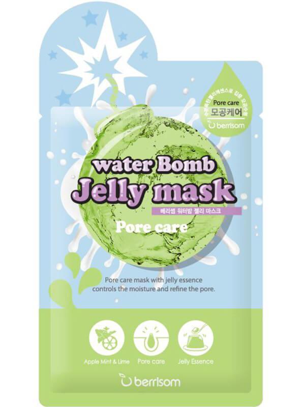 Berrisom Water Bomb Jelly Mask - Pore Care (33ml) ryhmässä Ihonhoito / Kasvonaamiot / Kangasnaamiot at Bangerhead.fi (B038966)