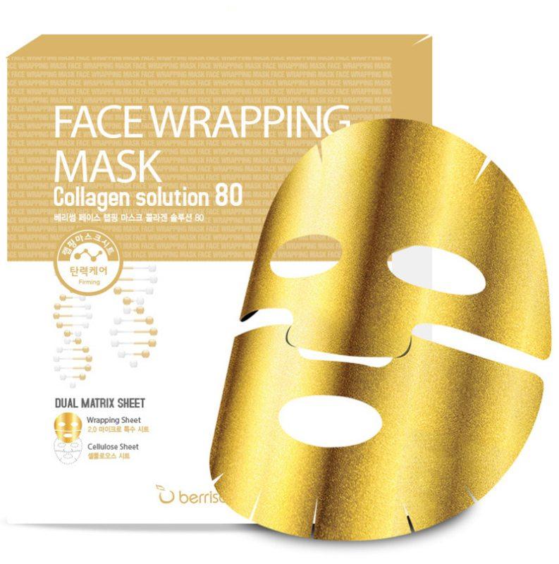 Berrisom Face Wrapping Mask Collagen Solution 80 ryhmässä Ihonhoito / Naamiot & hoitotiivisteet / Kangasnaamiot at Bangerhead.fi (B038967)
