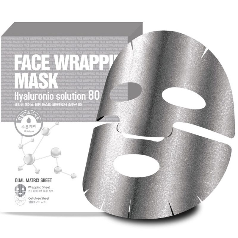 Berrisom Face Wrapping Mask Hyaruronic Solution 80 ryhmässä Ihonhoito / Kasvonaamiot / Kangasnaamiot at Bangerhead.fi (B038968)
