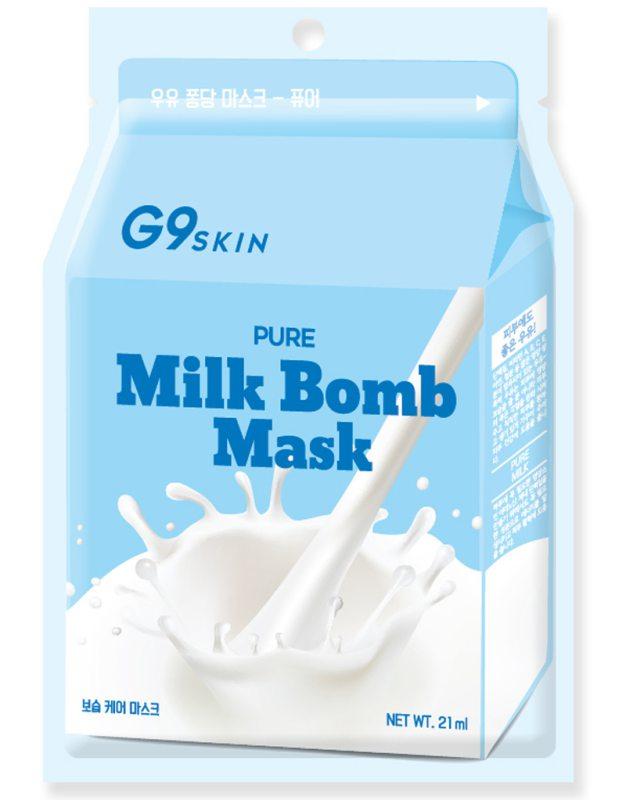 G9Skin Milk Bomb Mask Pure ryhmässä Ihonhoito / Kasvonaamiot / Kangasnaamiot at Bangerhead.fi (B038994)
