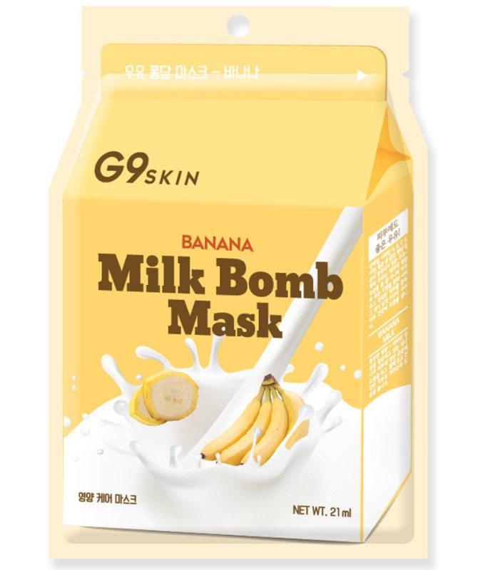 G9Skin Milk Bomb Mask Banana ryhmässä Ihonhoito / Kasvonaamiot / Kangasnaamiot at Bangerhead.fi (B038996)