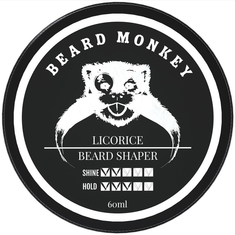 Beard Monkey Beard Shaper Licorice ryhmässä Miehet / Parranajo & grooming miehille / Partaöljyt & vahat miehille at Bangerhead.fi (B039387)