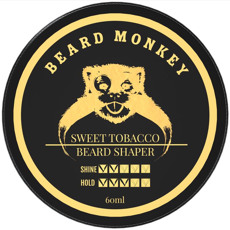 Beard Monkey Beard Shaper Sweet Tobacco ryhmässä Miehet / Parranajo & grooming miehille / Partaöljyt & vahat miehille at Bangerhead.fi (B039388)