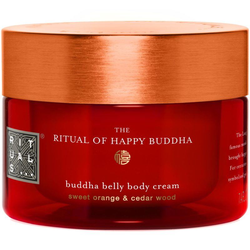 Rituals The Ritual Of Happy Buddha Body Cream (220ml) ryhmässä Vartalonhoito  / Vartalon kosteutus / Vartalovoiteet at Bangerhead.fi (B040026)