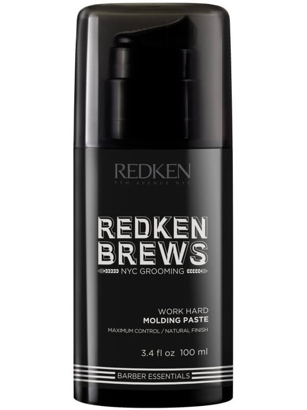 Redken Brews Work Hard Molding Paste (100ml) i gruppen Hårvård / Styling / Hårvax & stylingpaste  hos Bangerhead (B040041)