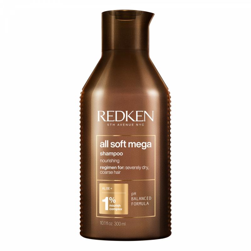 Redken All Soft Mega Shampoo (300ml) ryhmässä Hiustenhoito / Shampoot & hoitoaineet / Shampoot at Bangerhead.fi (B040053)
