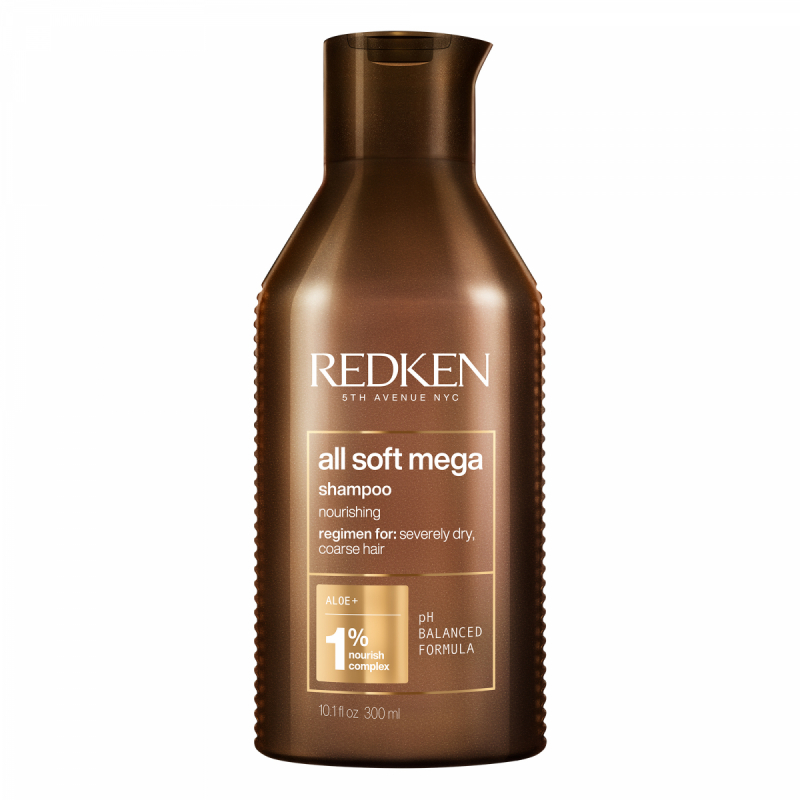 Redken All Soft Mega Shampoo (300ml) ryhmässä Hiustenhoito / Shampoot / Shampoot at Bangerhead.fi (B040053)