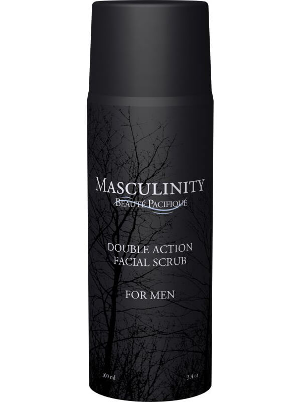 Beauté Pacifique Double Action Facial Scrub, For Men (100ml) i gruppen Hudvård / Ansiktspeeling / Kornpeeling hos Bangerhead (B040117)