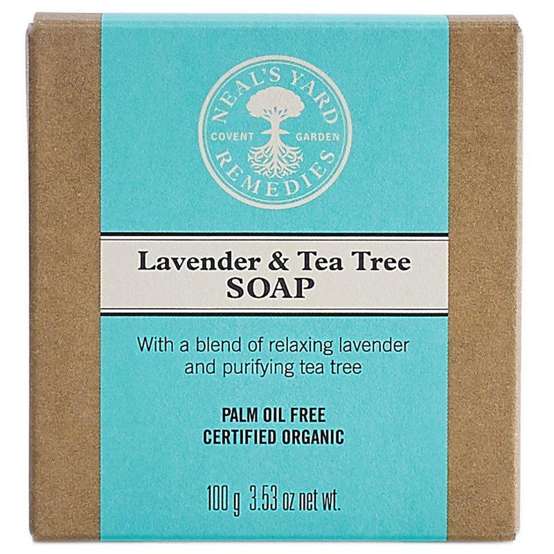 Neals Yard Remedies Tea Tree & Lavender Palm Free Soap (100g) i gruppen Kroppsvård & spa / Händer & fötter / Handtvål hos Bangerhead (B040172)