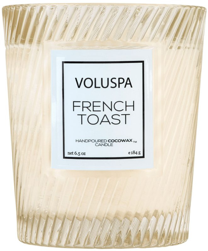 Voluspa Macaron French Toast Boxed Textured Glass Candle (40h)