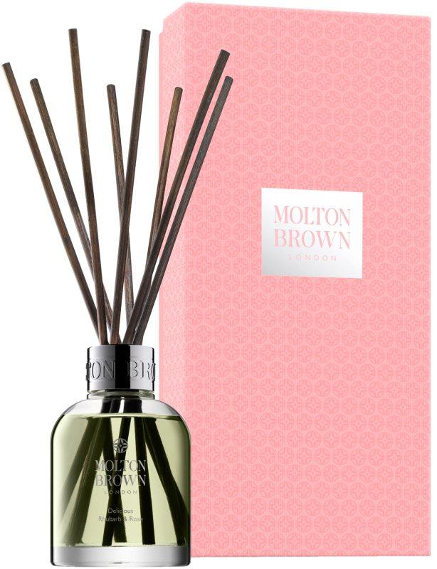 Molton Brown Rhubarb & Rose Aroma Reeds (645g) i gruppen Parfym & doft / Doftljus & doftpinnar / Doftpinnar hos Bangerhead (B042710)