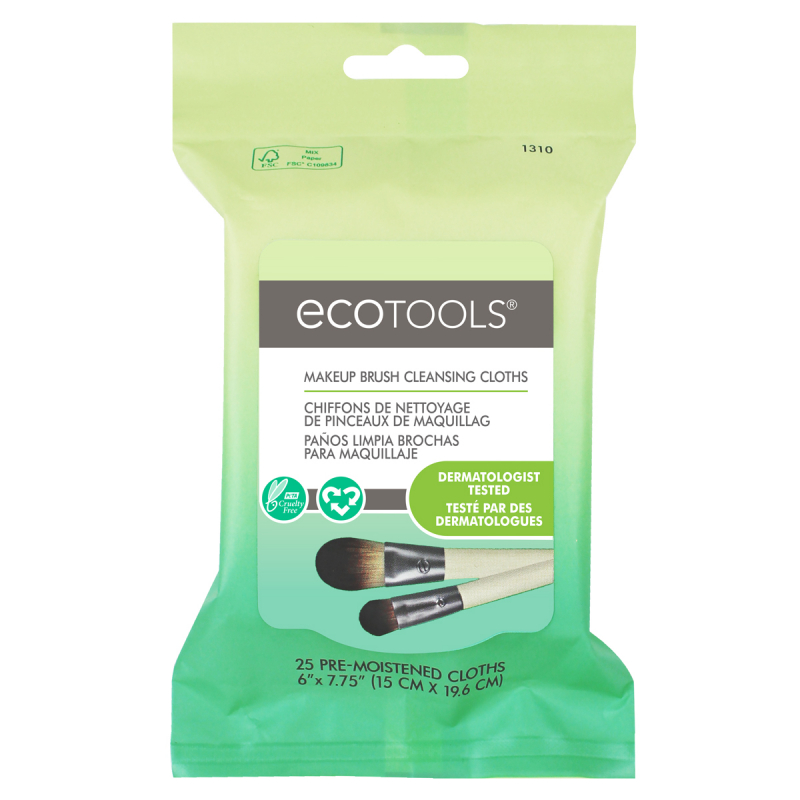 EcoTools Makeup Brush Cleansing Cloths ryhmässä Meikit / Meikkisiveltimet / Siveltimien puhdistus at Bangerhead.fi (B042797)