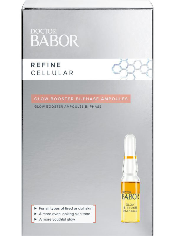 Babor Doctor Babor Refine Cellular Glow Booster Bi-Phase Ampoules (7ml) i gruppen Hudpleie / Masker & treatments / Ansiktsserum hos Bangerhead.no (B043006)
