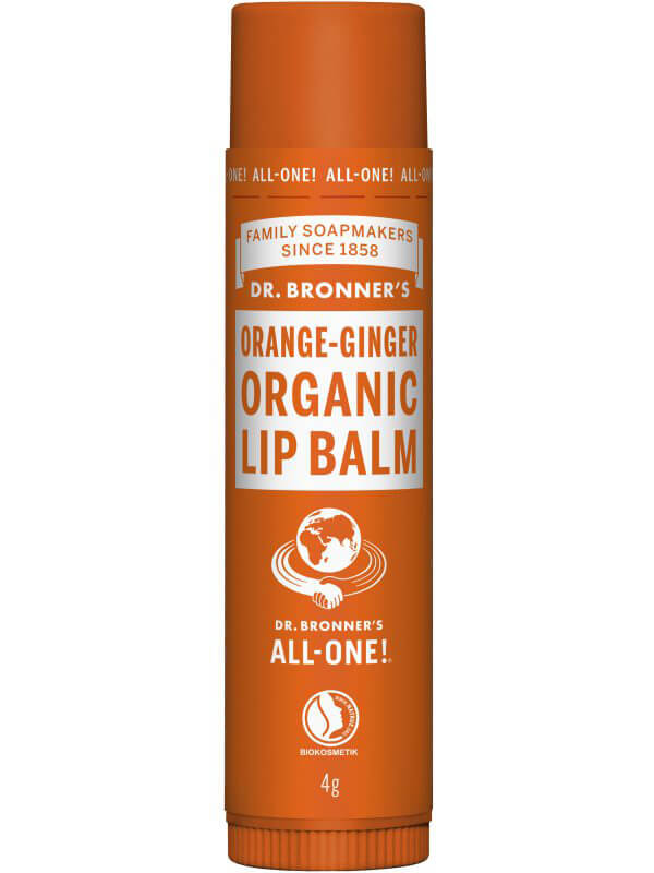 Dr. Bronner's Lip Balm Orange Ginger ryhmässä Ihonhoito / Huulet / Huulivoiteet at Bangerhead.fi (B043262)