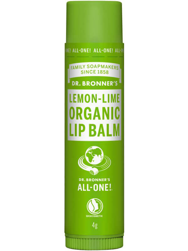 Dr. Bronner's Lip Balm Lemon Lime i gruppen Hudvård / Läppar / Läppbalsam hos Bangerhead (B043264)