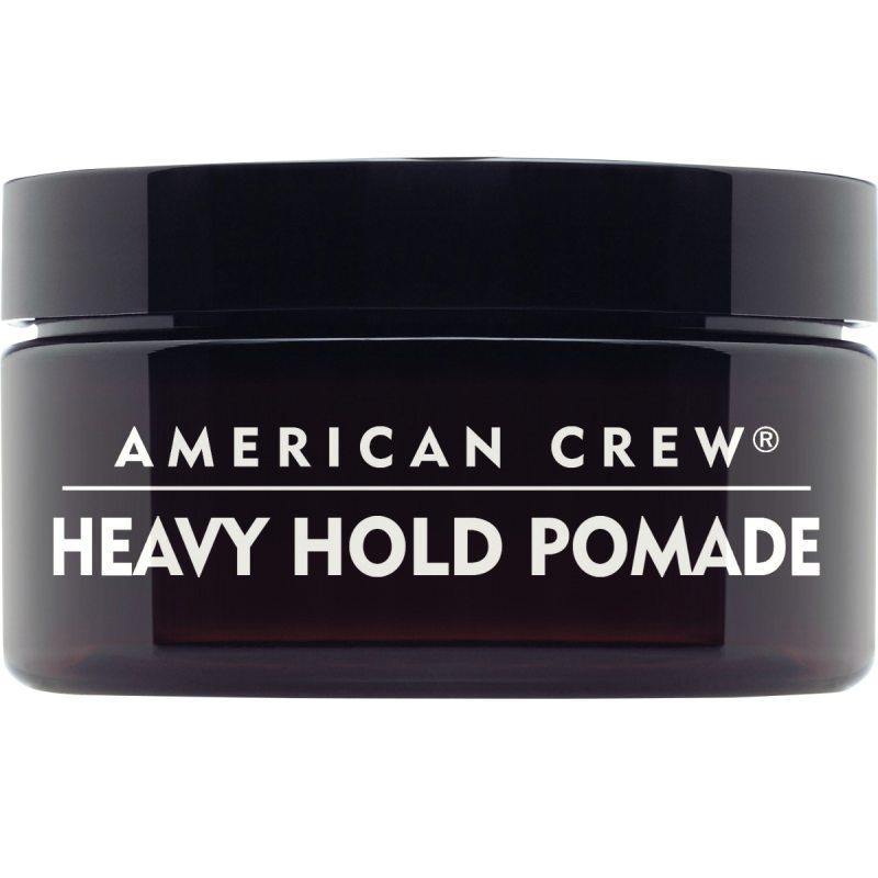 American Crew Heavy Hold Pomade (85g) ryhmässä Hiustenhoito / Muotoilutuotteet / Geelit at Bangerhead.fi (B043282)