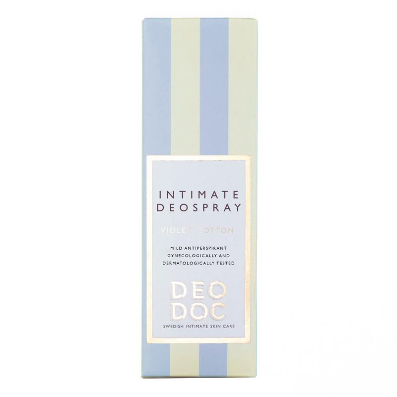 Deodoc Deospray Intimate Violet Cotton (50ml) ryhmässä Vartalonhoito & spa / Vartalon puhdistus / Intiimituotteet at Bangerhead.fi (B043284)
