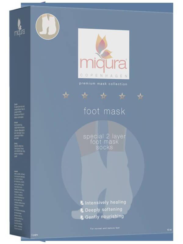 Miqura Foot Mask 5 Pair i gruppen Kroppsvård & spa / Händer & fötter / Handmasker & fotmasker hos Bangerhead (B044919)