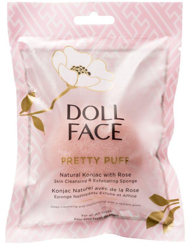 Doll Face Pretty Puff Rose Konjac Cleansing Sponge ryhmässä Ihonhoito / Kasvojen puhdistus / Puhdistussienet at Bangerhead.fi (B045566)