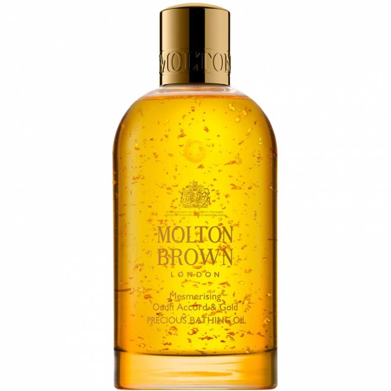 Molton Brown Mesmerising Oudh Accord & Gold Precious Bathing Oil (200ml) i gruppen Kroppspleie & spa / Kroppsrengjøring / Bad & dusjolje hos Bangerhead.no (B046658)